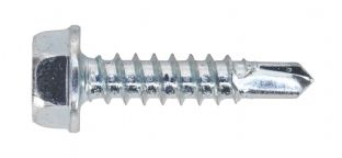 Sealey SDHX4219 Self Drilling Screw 4.2 x 19mm Hex Head Zinc DIN 7504K Pack of 100